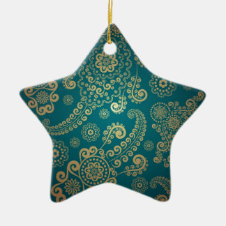 Cool retro pattern christmas ornament