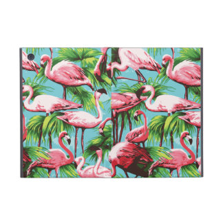 Cool Retro Pink Flamingoes iPad Mini Cover
