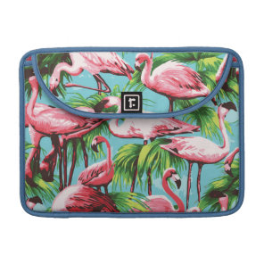 Cool Retro Pink Flamingoes Macbook Pro Sleeve