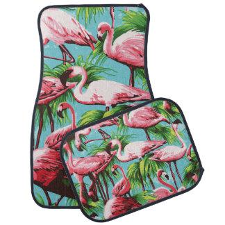 Cool Retro Pink Flamingos Car Mat