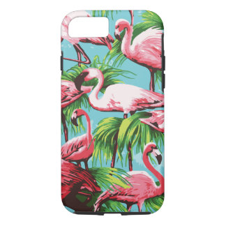 Cool Retro Pink Flamingos iPhone 8/7 Case