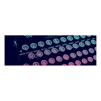 Cool Retro Vintage Typewriter Pop Art Double-Sided Mini Business Cards (Pack Of 20)