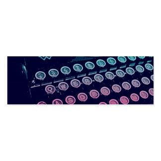 Cool Retro Vintage Typewriter Pop Art Business Card Template