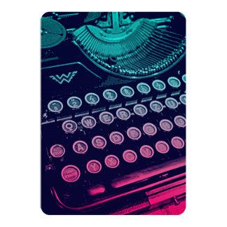 Cool Retro Vintage Typewriter Pop Art 13 Cm X 18 Cm Invitation Card