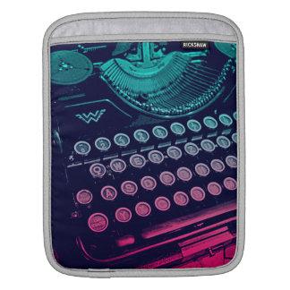 Cool Retro Vintage Typewriter Pop Art Sleeves For iPads