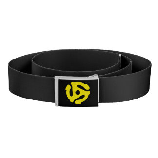 COOL Retro Vintage Yellow 45 spacer DJ Belt
