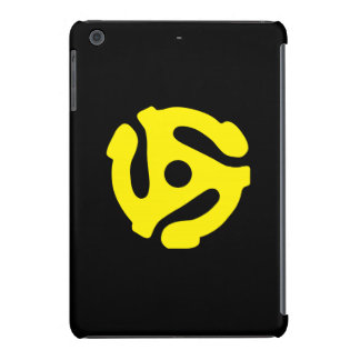 COOL Retro Vintage Yellow 45 spacer DJ iPad Mini Retina Covers