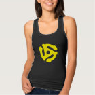 COOL Retro Vintage Yellow 45 spacer DJ Tank Top