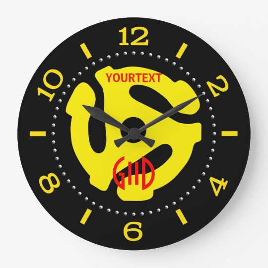 COOL Retro Yellow 45 spacer DJ Dial on