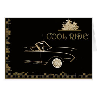"""Cool Ride"" in a classic ..a vintage moment Greeting Card"