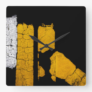 COOL Road Painted Lines Square Wall Clock