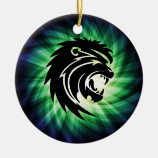 Cool Roaring Lion Silhouette Christmas Ornament