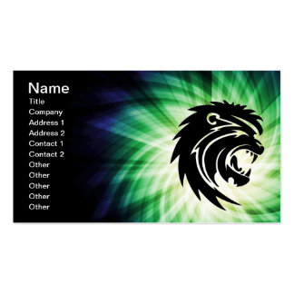 Cool Roaring Lion Silhouette Pack Of Standard Business Cards