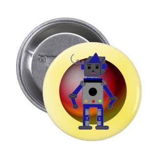 Cool Robot 6 Cm Round Badge