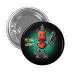 Cool Robot Sam 'Feeling Lucky?' 3 Cm Round Badge