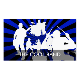 Cool Rock Band Business Cards