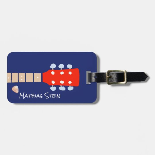 cool rock guitar musicians travel luggage tag