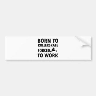 Cool Rollerskate Designs Bumper Stickers