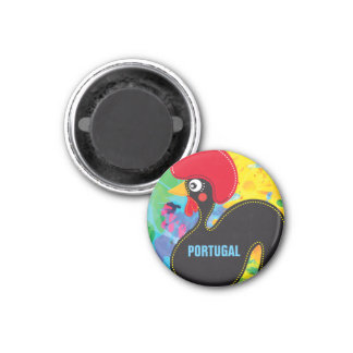 Cool Rooster of Portugal 3 Cm Round Magnet