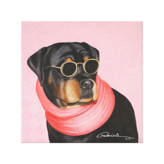 Cool Rottie Stanley Canvas Print