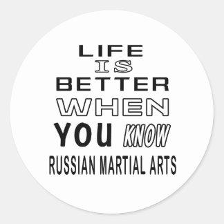Cool Russian Martial Arts Designs Round Sticker
