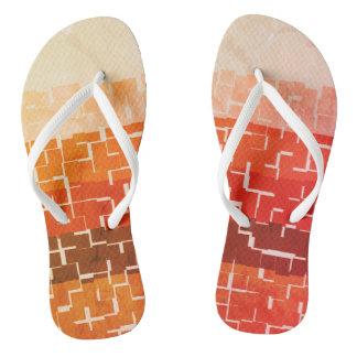 Cool Rustic Autumn Colors Flip Flops