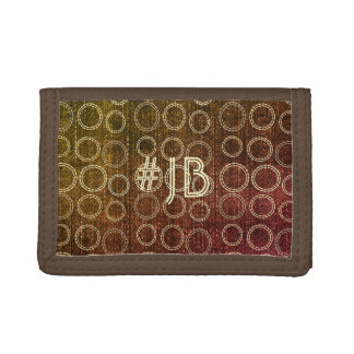 Cool Rustic Fall Look Add Initials Hashtag Wallet