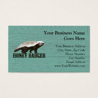 Cool Rustic Honey Badger Business Card