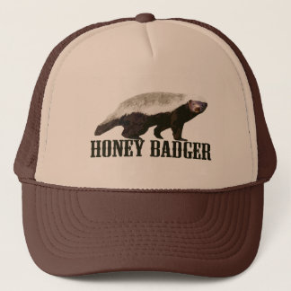 Cool Rustic Honey Badger Trucker Hat