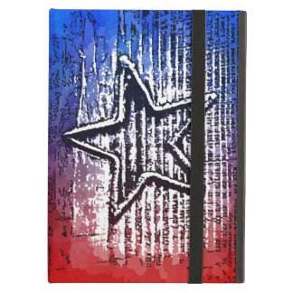 Cool Rustic Lone Star Pop Art Print iPad Case