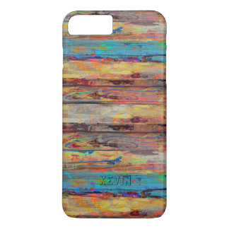 Cool Rustic Painted Wood Boards iPhone 8 Plus/7 Plus Case