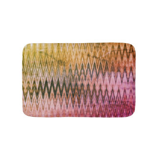 COOL Rustic Wavy Pattern Bath Mat