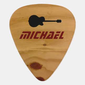 cool rustic wood guitar picks with name