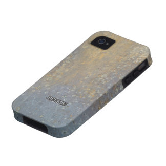 Cool Rusty Grunge Metal Texture with Custom Name iPhone 4/4S Covers