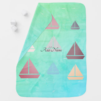 Cool Sailing Boat Nautical Beach Travel Blanket