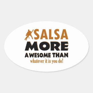 Cool Salsa designs Oval Sticker