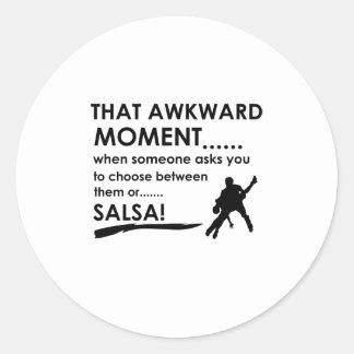 cool salsa designs round sticker