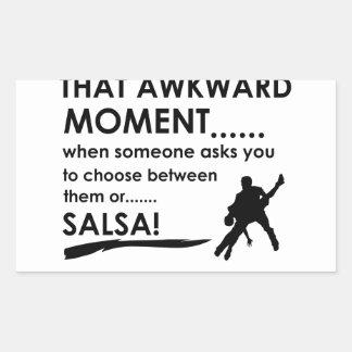 cool salsa designs rectangle sticker