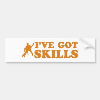 Cool salsa skills designs bumper sticker