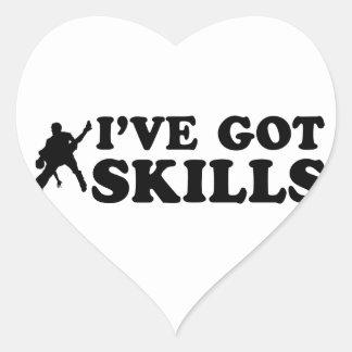 Cool salsa skills designs heart sticker