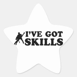 Cool salsa skills designs star sticker