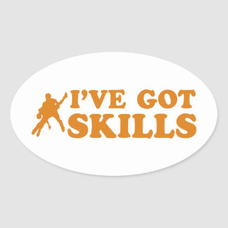 Cool salsa skills designs sticker
