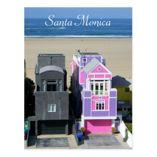 Cool Santa Monica Houses Postcard! Postcard