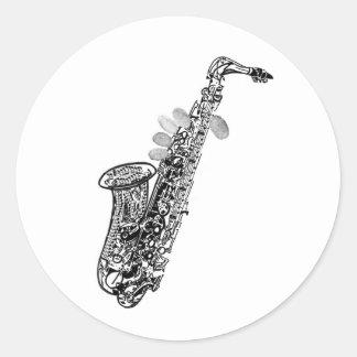 Cool saxophone sticker