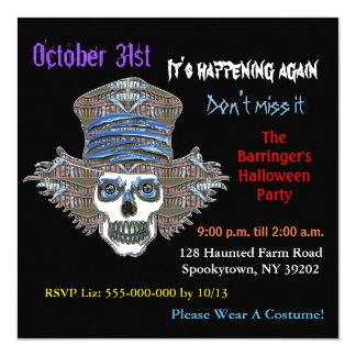 Cool ScareCrow Fright  Halloween SQUARE Invitation