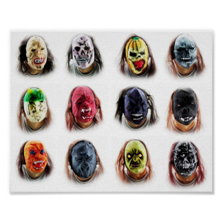 Cool Scary Masks Poster