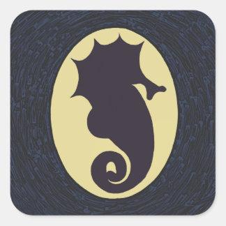 Cool Seahorse Square Sticker