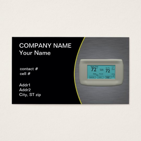cool setting thermostat business card
