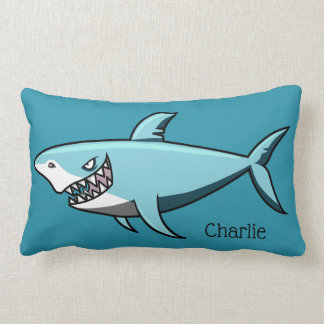 Cool Shark custom name throw pillows