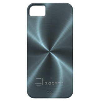 Cool Shiny Radial Steel Metal iPhone 5 Case